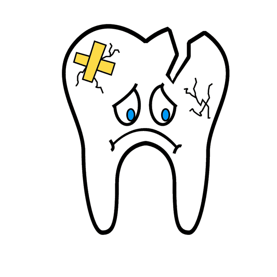 cavity on front tooth gum line